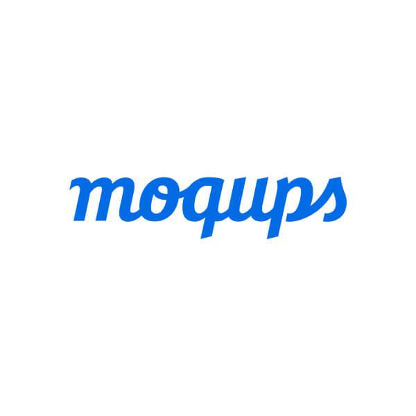 Het logo van Moqups